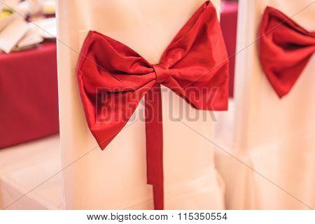 Ribbon decoration on wedding