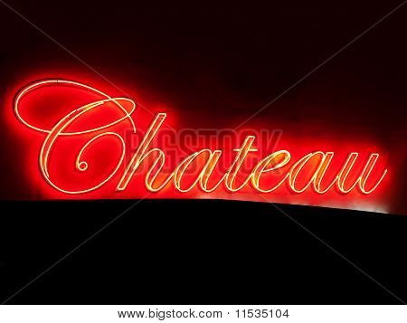 Red Chateau neon sign