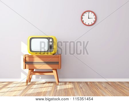 Retro Tv Wall Clock