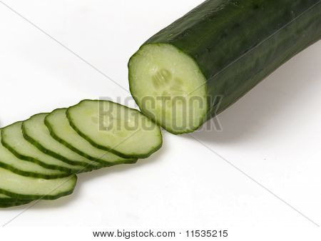 Whole Cucumber And Few Slices