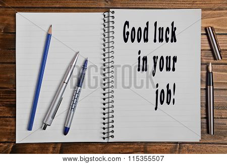 Good Luck In Your Job!