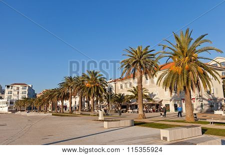 Quay Of Tivat Town, Montenegro