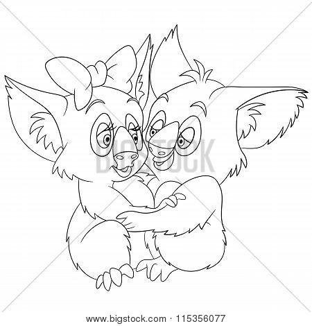 Cute Cartoon Koalas