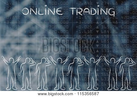 Happy And Sad Investors: Facing Financial Data, With Text Online Traders