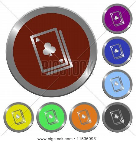 Color Card Game Buttons