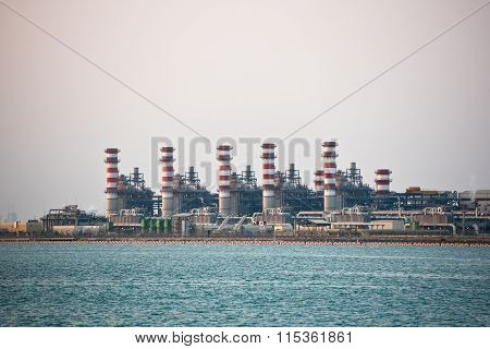 View Of Big Oil Refinery On A Sky Background