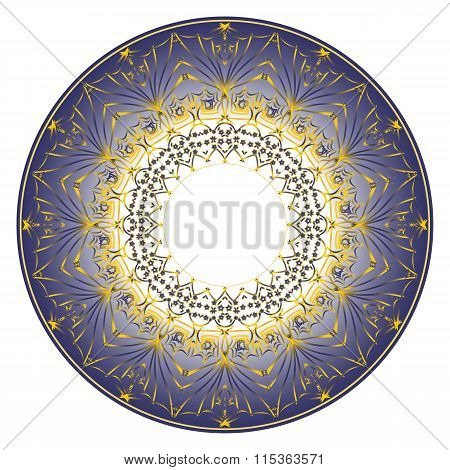 blue plate ornament