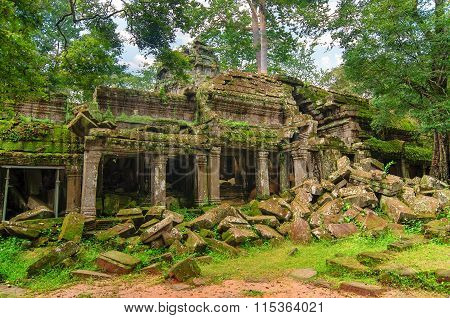 Ta Prohm - Part Of Khmer Temple Complex In Asia.