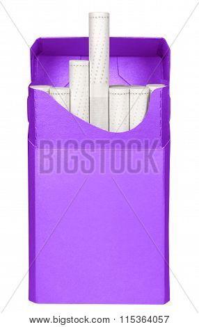 Cigarettes Box - Opened-violet