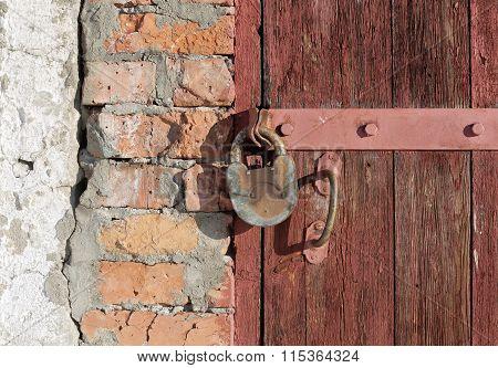 Old Padlock On A Door