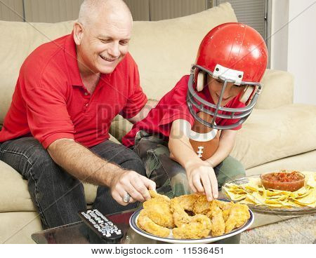 Football Fans And Snacks