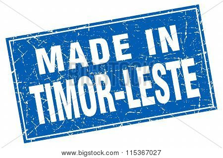 Timor-Leste blue square grunge made in stamp