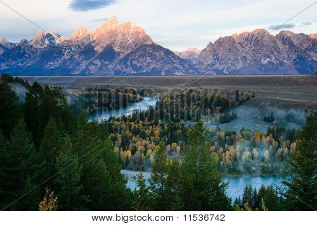 Grand Teton Mountains and Snake River