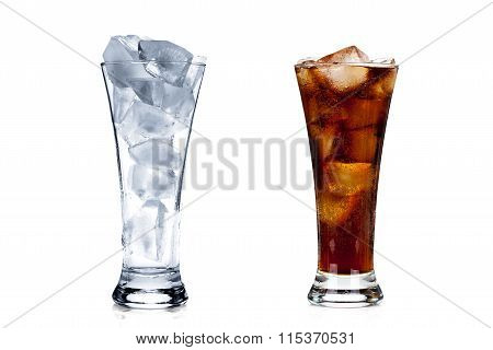 Two Glasses Isolated On White