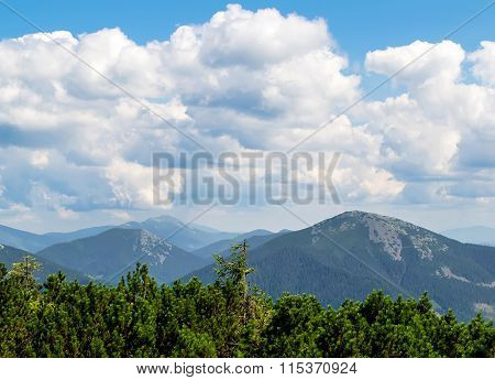 Clouds In Mountains