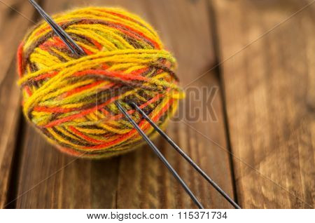 the skein of colorful thread