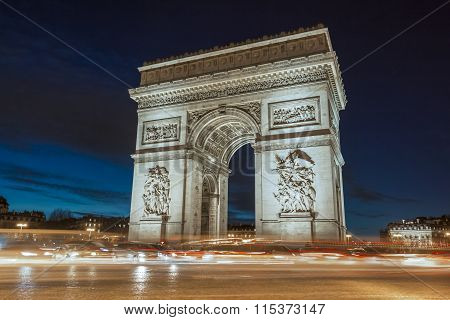 The Triumphal Arch In Evening.