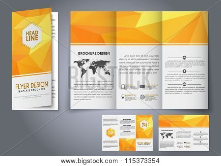 Template Design Three Fold Flyer, Brochure
