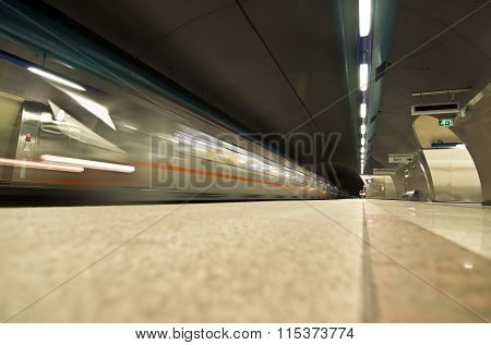 european metro station subway