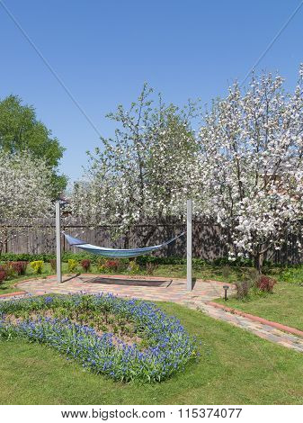 Recreation Area In The Spring Garden
