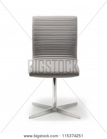 Office Chair Gray Fabric Front View