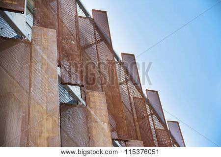 Artistic Metal Panels On Building Exterior