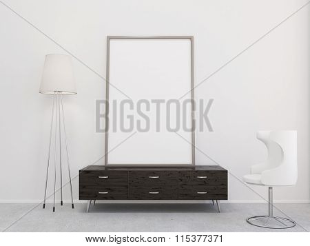 Blank Frame On The Chest Of Drawers