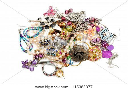 Stack of colorful accessories