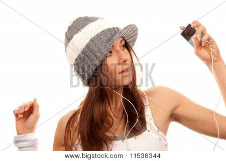 Pretty Female In Headphones