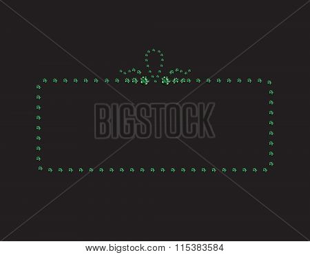 Emerald Creative Deco Frame On Black