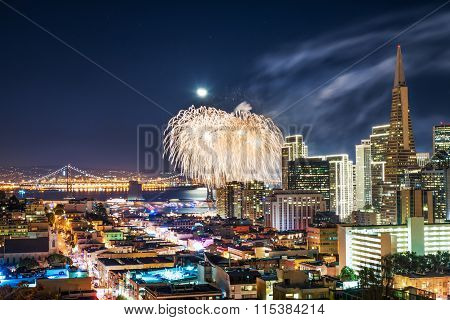 San Francisco New Year Fireworks 2015