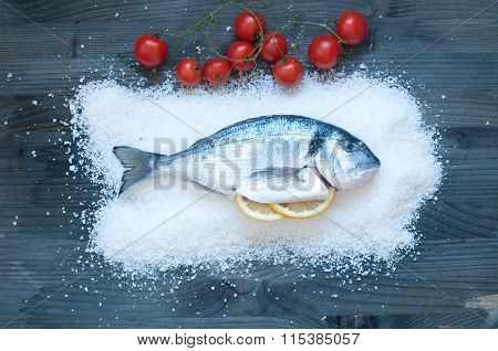 Bream Cooked In Salt And Then Baked In The Oven
