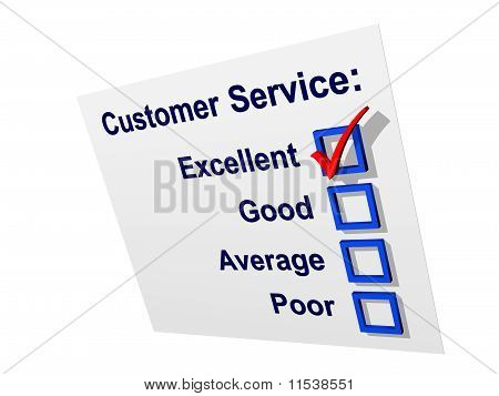 Customer Service with Excellent Ticked