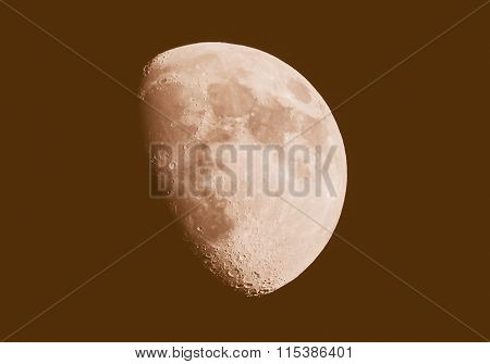 Retro Looking Gibbous Moon