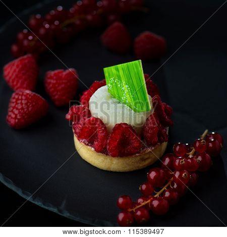 Italian Dessert - Cheesecake with Berries