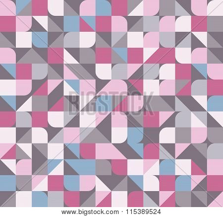 Seamless abstract geometric pattern pink and grey