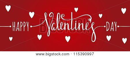 Happy Valentines day inscription.