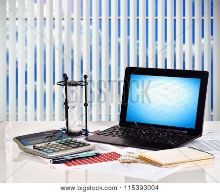 Notebook, Financial And Business Charts