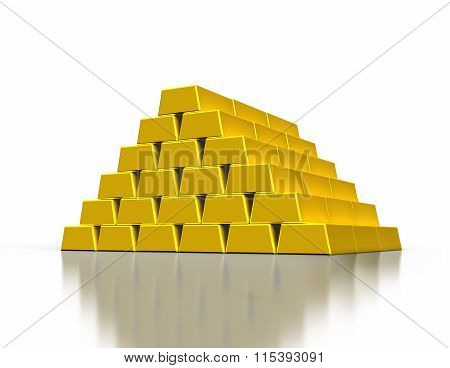 Stacks Of Gold Ingots