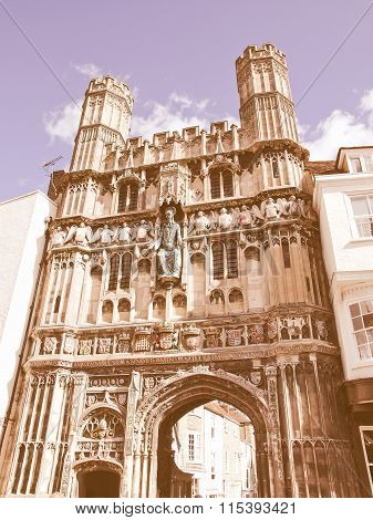 St Augustine Gate In Canterbury Vintage