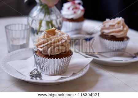 Cup cake on table