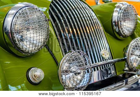 Bucharest Romania - October 10, 2015: Vintage Automotive Show