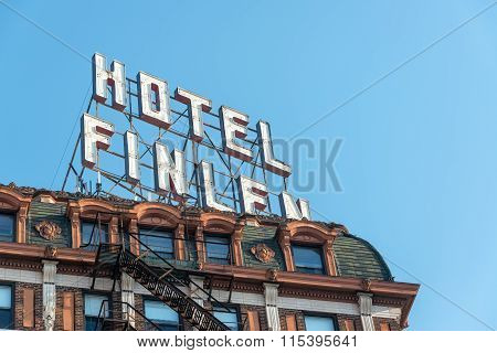 Historic Hotel Closeup View