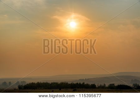 Hazy Sunrise