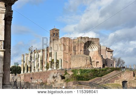 Temple Of Venus And Roma Ruins Near Roman Forum