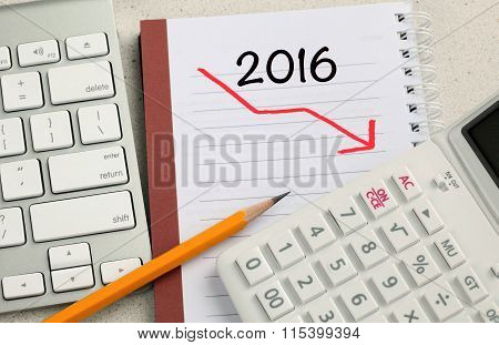 downward trend for the year 2016