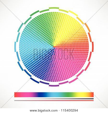 Dotted Color Chart Color Wheel Circle Vector