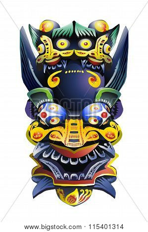 Chinese deity mask