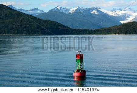 Sea Lions on the Buoy in Alaska