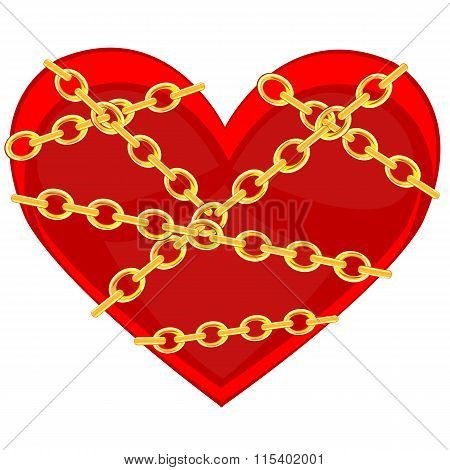 Heart in chain